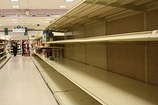 The time to buy your essentials of all types is before the panic sets in.  Seems obvious, but most people fail to do so.