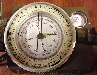 A typical medium quality sighting compass.