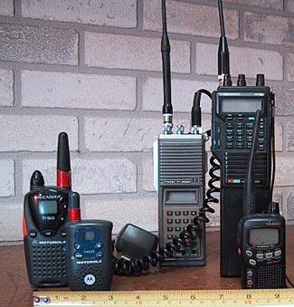 FRS/GMRS portable radios come in all shapes and sizes.