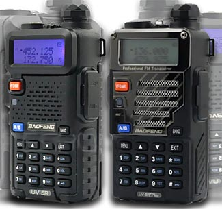The UV-5R comes in different case styles and model numbers, but all are identical inside.