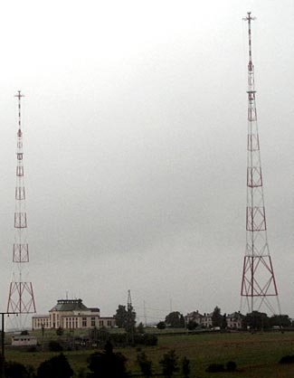 AM radio stations require very large antennas.