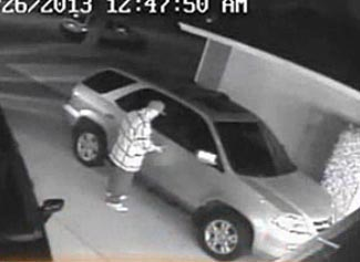 An example of a car prowler opening a car with a mysterious electronic device.  No-one yet knows how.