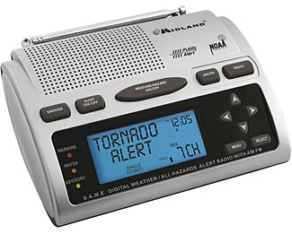 The Midland WR300 and the WR-120B are excellent and affordable SAME equipped NWR EAS compatible radios.