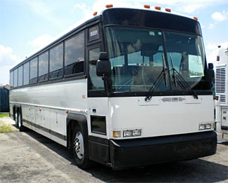 This large 55 passenger 1996 MCI bus could be yours for about $25,000.