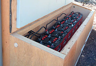 This backup battery setup looks good, but there's one huge mistake the prepper made in developing it.  Do you know what it was?  The answer is at the bottom of the article.