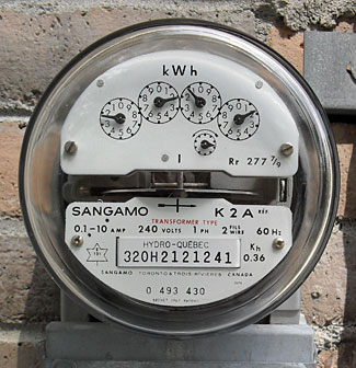 This 'power meter' actually measures energy, while visually displaying the rate of power being provided.  Confused?  Please read the article and hopefully all will be explained.