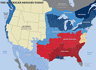 The eleven different sub-nations within the US.  Click image for a larger image.