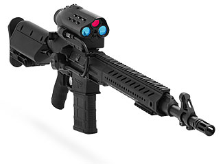 This 7.62mm rifle will 'automatically' sight and shoot accurately out to 900 yards.  No skill required.
