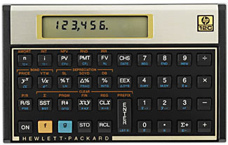The HP-12C - possibly the finest calculator ever.