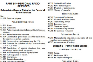 New FCC Regulations on FRS and GMRS Radios